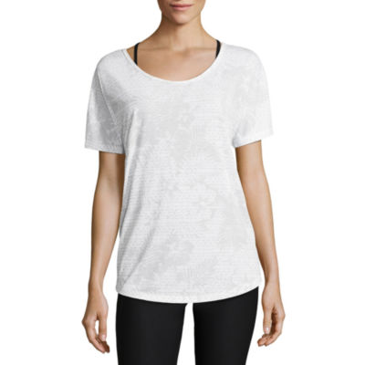 Xersion Layered Back Short Sleeve Tee - Tall
