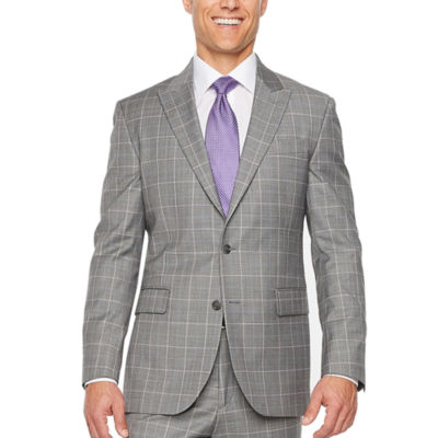 Stafford Grid Slim Fit Stretch Suit Jacket