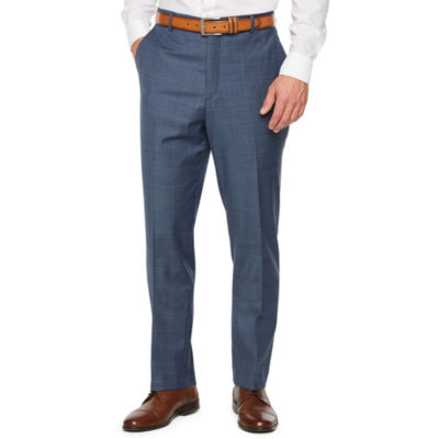 Stafford Travel Plaid Stretch Classic Fit Suit Pants