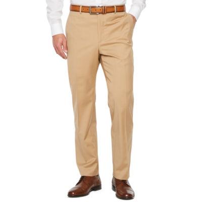 Stafford Travel Khaki Stretch Slim Fit Suit Pants