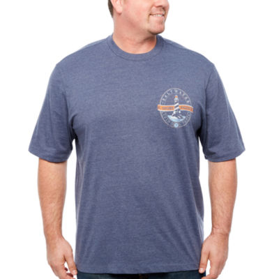 IZOD Graphic T-Shirts Short Sleeve Crew Neck T-Shirt-Big and Tall
