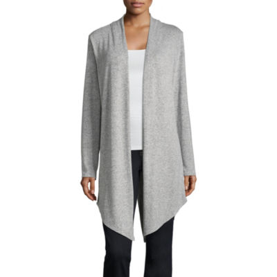 a.n.a. Long Sleeve Split Back Cardigan