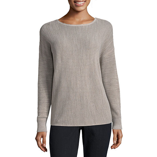 bfb790f29c27d4 a.n.a Long Sleeve Two Way Knot Sweater - JCPenney