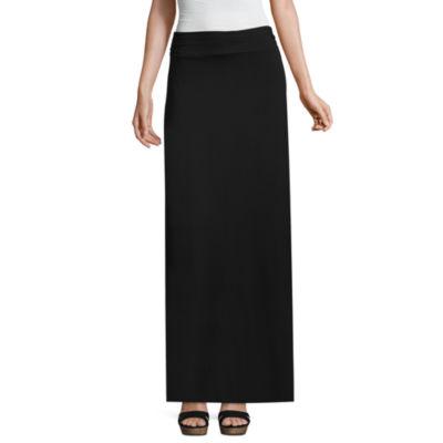 Liz Claiborne Womens Mid Rise Long Maxi Skirt