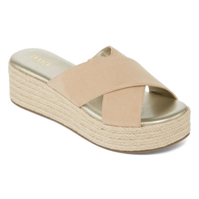 a.n.a Erin Womens Wedge Sandals