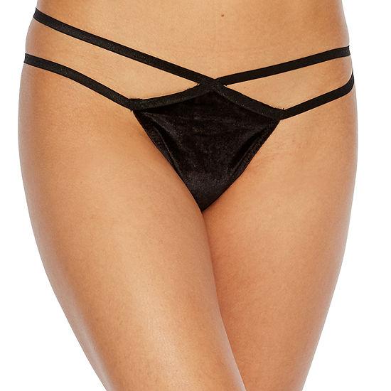 Rene Rofe Velvet Kiss Thong Panty P126270-Blk