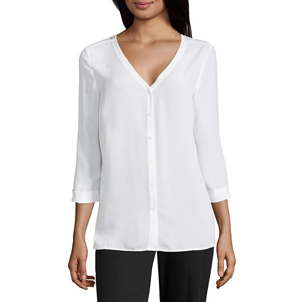Worthington Cross Back Blouse - Tall