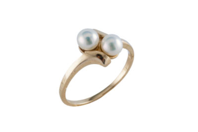 Splendid Pearls Womens Pearl 14K Gold Cocktail Ring