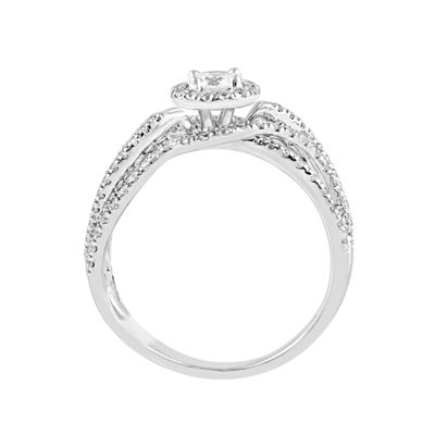 Womens 1 CT. T.W. Genuine White Diamond 14K White Gold Bridal Set