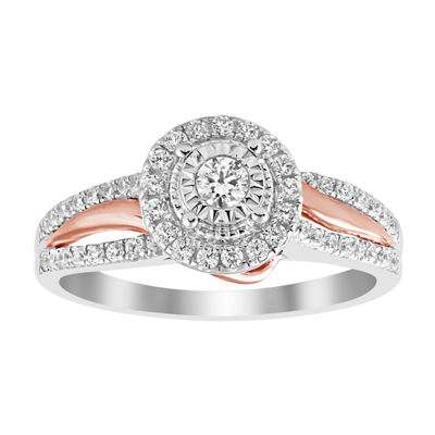 Womens 1/2 CT. T.W. Genuine White Diamond 14K White & Rose Gold Bridal Set