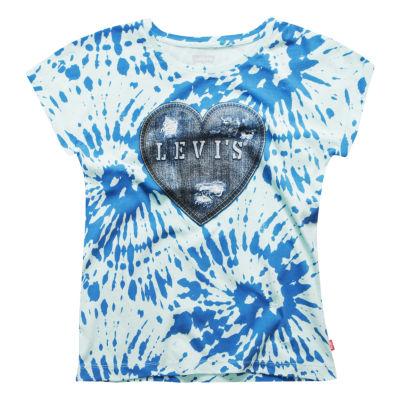 Levi's Roll Slv Knit Tee -Big Kid Girls