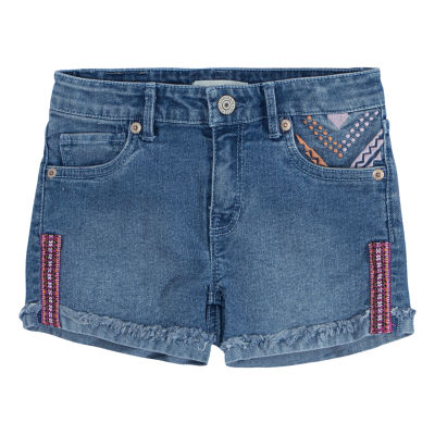 Levi's Embroidered Shorty Short - Preschool Girls