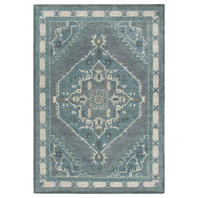 Rizzy Home Arden Loft-Sandhurst Collection Alec Hand-Tufted Medallion Area Rug