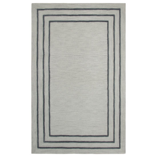 Rizzy Home Andrew Charles-Caterine Collection Alessia Hand-Tufted Bordered Area Rug