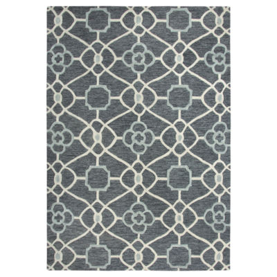 Rizzy Home Arden Loft-Sandhurst Collection Anakin Hand-Tufted Geometric Area Rug