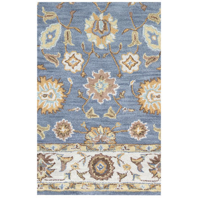 Rizzy Home Arden Loft-Crown Way Collection Azalea Hand-Tufted Floral Rug