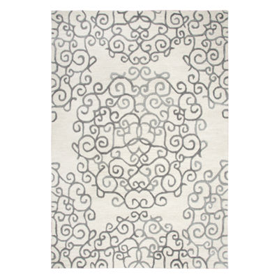 Rizzy Home Arden Loft-Sandhurst Collection Boston Hand-Tufted Medallion Area Rug