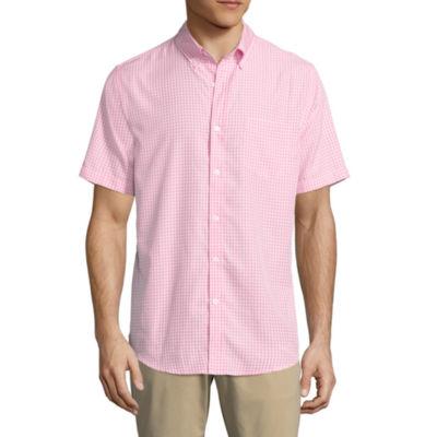 St. John's Bay Short Sleeve Slim Fit Performance Button-Front Shirt
