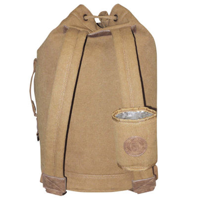 Buxton Drawstring Backpack with Can Holder