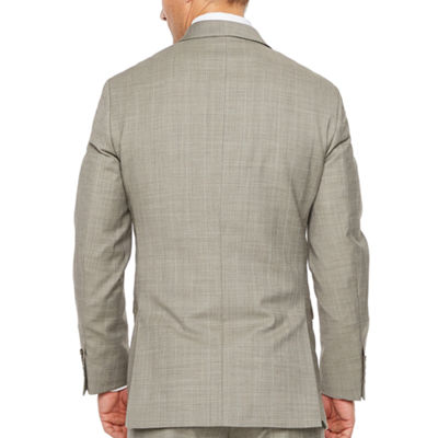 Stafford Brown Check Slim Fit Stretch Suit Jacket