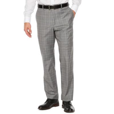 Stafford Travel Grid Stretch Slim Fit Suit Pants