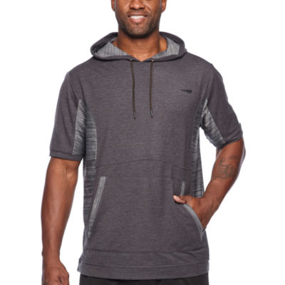 Copper Fit Short Sleeve French Terry Hoodie-Big and Tall