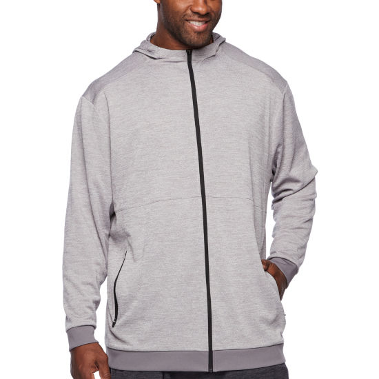 Msx By Michael Strahan Long Sleeve Melange Hoodie-Big and Tall
