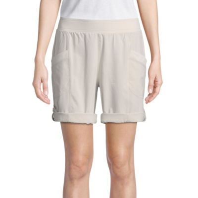 St. John's Bay Active Womens Mid Rise Drawstring Waist Pull-On Short