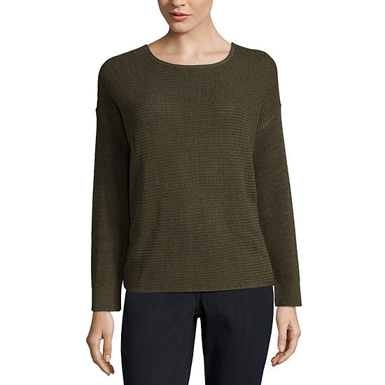 a.n.a Long Sleeve Two Way Knot Sweater