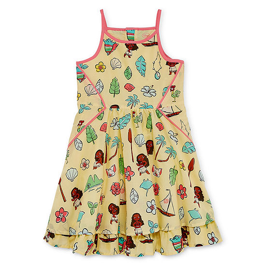 Disney Collection Girls Sleeveless Moana Sundress - Preschool / Big Kid