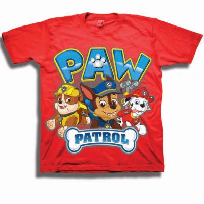 Boys 4-20 Graphic Tees Boys Crew Neck Short Sleeve Paw Patrol Graphic T-Shirt-Preschool