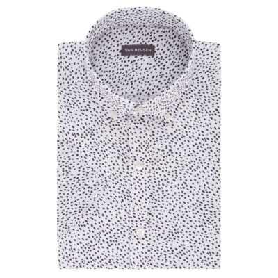 Van Heusen Short Sleeve Poplin Dress Shirt - Slim