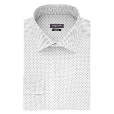 Van Heusen Made To Match Long Sleeve Twill Pattern Dress Shirt - Slim