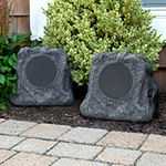 Innovative Technology Pair of Solar Charging Bluetooth Outdoor Rock Speakers
