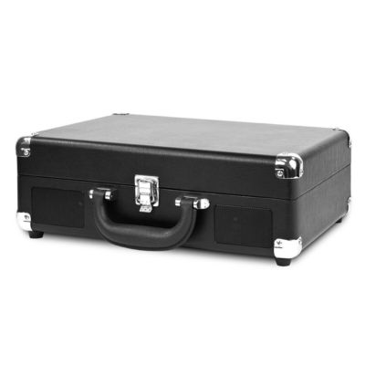Victrola VSC-550-BLK Suitcase Record Player with 3-speed Turntable