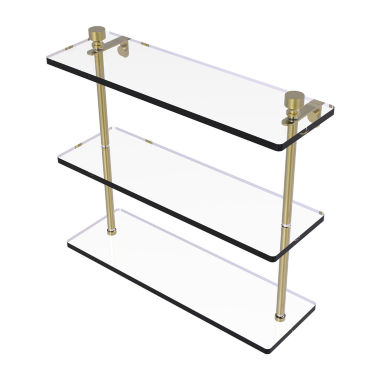 Allied Brass Foxtrot Collection 16 IN Triple Tiered Glass Shelf