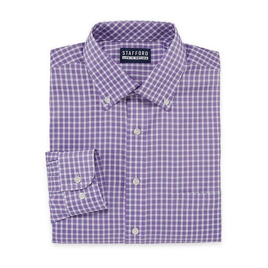 Stafford Mens Wrinkle Free Polyspan Dress Shirt