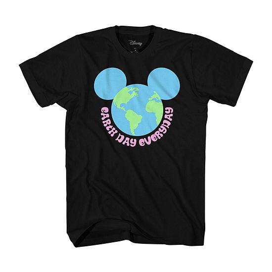 Disney Little & Big Boys Crew Neck Mickey Mouse Short Sleeve Graphic T-Shirt