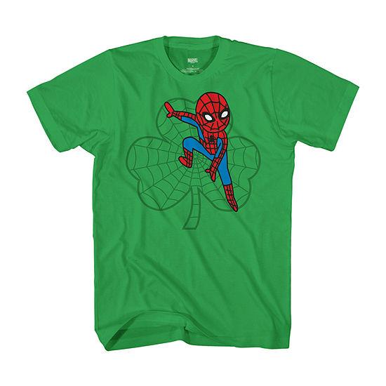 Disney Little & Big Boys Crew Neck Spiderman Short Sleeve Graphic T-Shirt