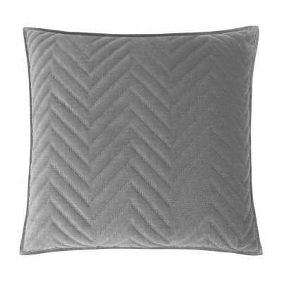 Fieldcrest Luxury Cotton Chevron Velvet Euro Sham