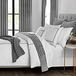 Fieldcrest Luxury Border Stripe 3-pc. Embroidered Duvet Cover Set