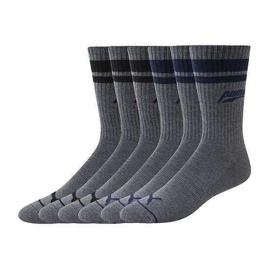Puma Mens 6 Pair Crew Socks
