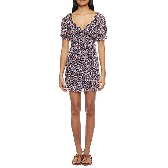 B. Smart-Juniors Short Sleeve Floral Fit & Flare Dress