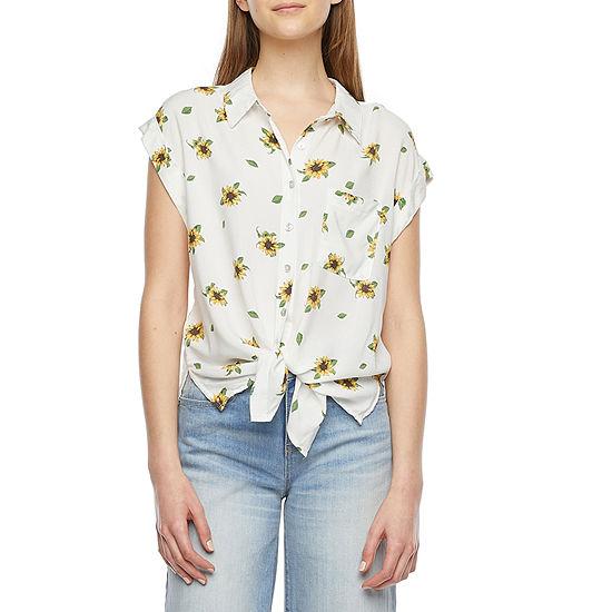 Belle Du Jour Juniors Womens Short Sleeve T-Shirt