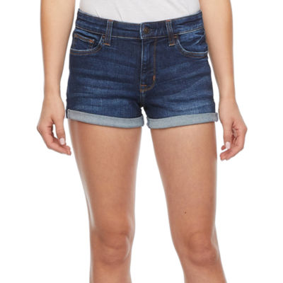 Arizona - Juniors Womens Mid Rise Shortie Short