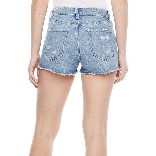 Arizona Womens High Rise Shortie Short-Juniors