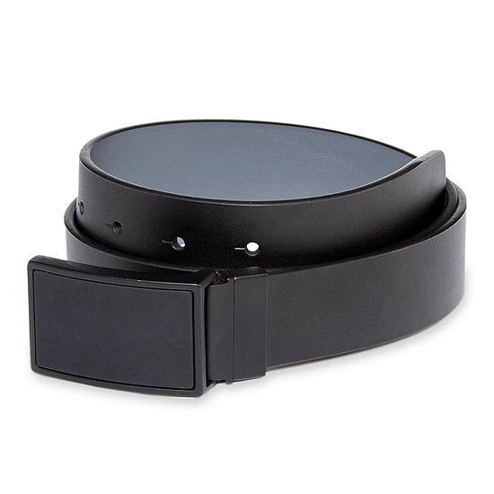 JF J Ferrar® Plaque Buckle Reversible Leather Belt