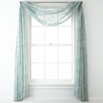Home Expressions Lisette Paisley Sheer Scarf Valance