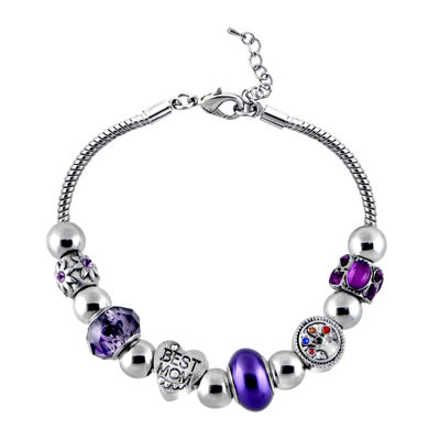 Dazzling Designs™ Mom Tree-of-Life Purple Bead Bracelet