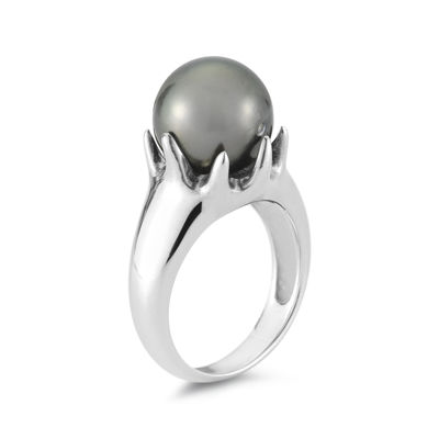 Tahitian Pearl Sterling Silver Ring